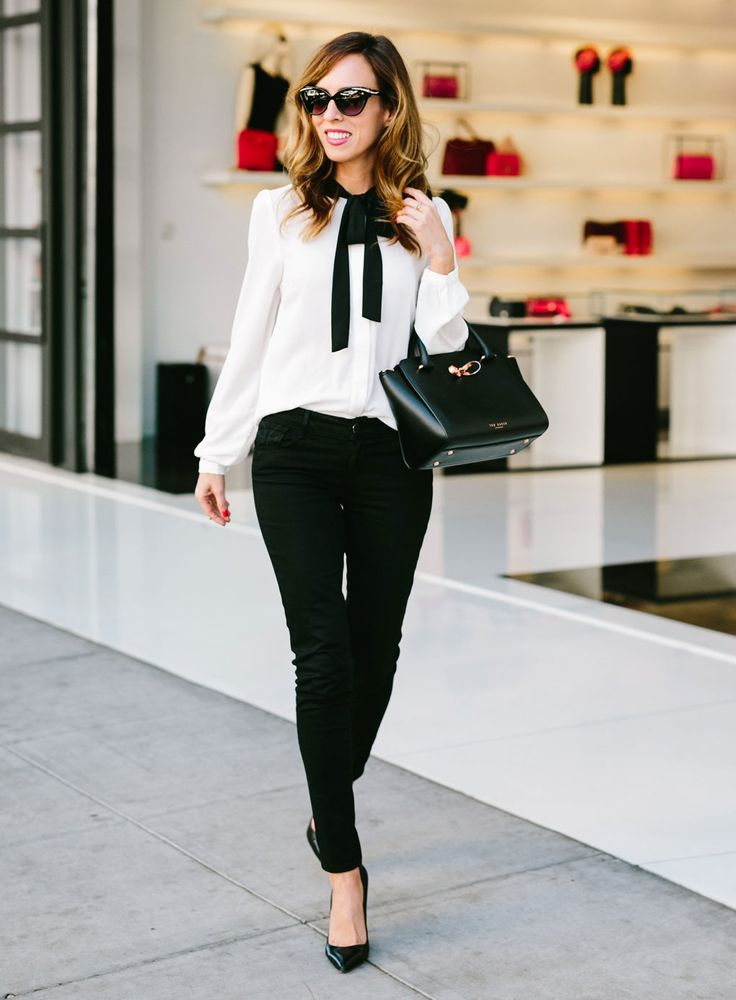 2-white-pussy-bow-blouse-with-skinny-black-jeans