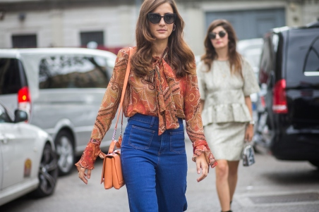 MILAN, ITALY - SEPTEMBER 27: Fashion blogger Eleonora Carisi during Milan Fashion Week Spring/Summer 16 on September 27, 2015 in Milan, Italy. (Photo by Christian Vierig/Getty Images)