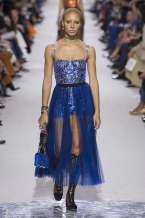 2ku7oe-l-610x610-skirt--dress-sheer--adwoa+aboah-model-runway-dior-paris+fashion+week+2017-sequins-bustier-bustier+dress