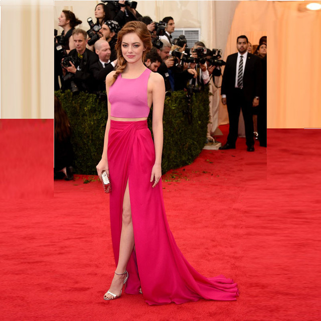 Glamorous-Pink-Cropped-Top-Hot-Pink-Maxi-Skirt-Emma-Stone-Red-Carpet-Celebrity-Dresses-2017-Formal.jpg_640x640